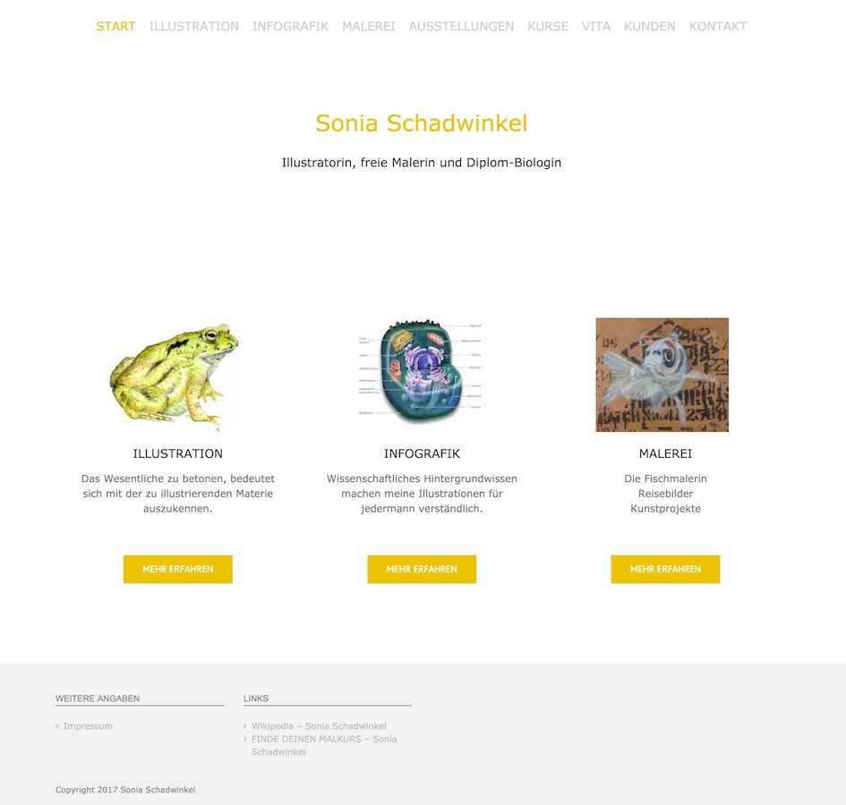 Website Sonia Schadwinkel