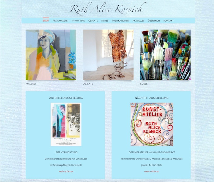 Website Ruth Alice Kosnick Neu