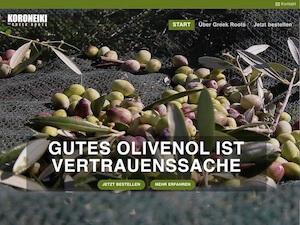 Screenshot Startseite greekroots.de, Link führt zur Referenz