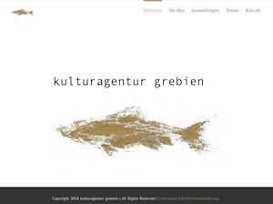 Screenshot Startseite kulturagenturgrebien.de, Link führt zur Referenz