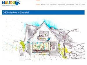 Screenshot Startseite malidu.com, Link führt zur Referenz
