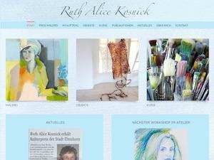 Screenshot Startseite ruthalice-kosnick.de, Link führt zur Referenz