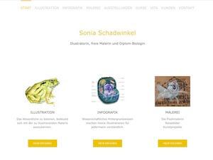 Screenshot Startseite soniaschadwinkel.de, Link führt zur Referenz