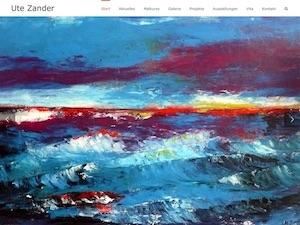 Screenshot Startseite ute-zander.de, Link führt zur Referenz