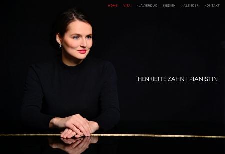 Bildschirmfoto: Startseite henriettezahn.de | designed by Digitales für Kreative, Link führt zur Kunden-Website