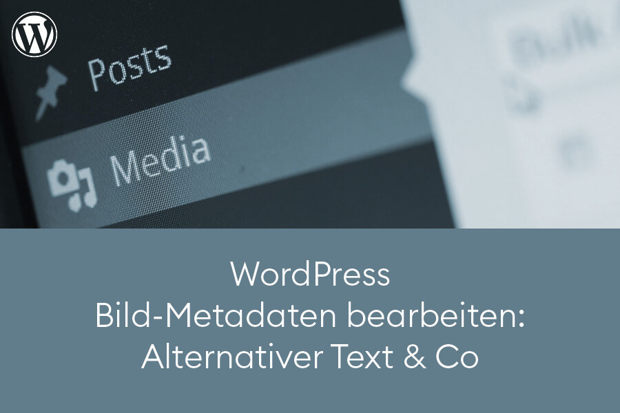 WordPress Bild-Metadaten bearbeiten: Alternativer Text und Co